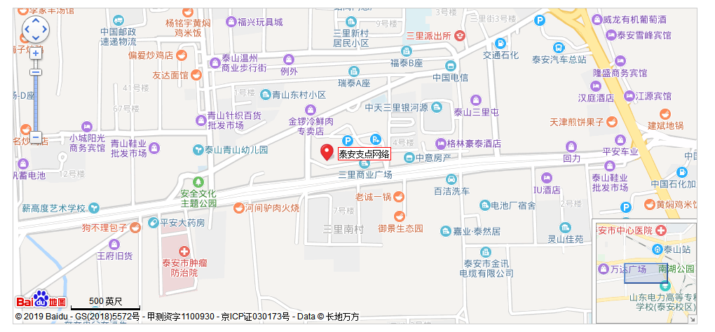 泰安支点网络地图标注